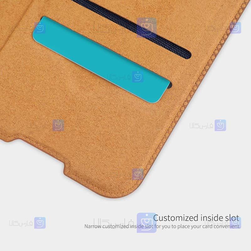 کیف چرمی نیلکین Xiaomi Redmi Note 9 5G مدل Qin